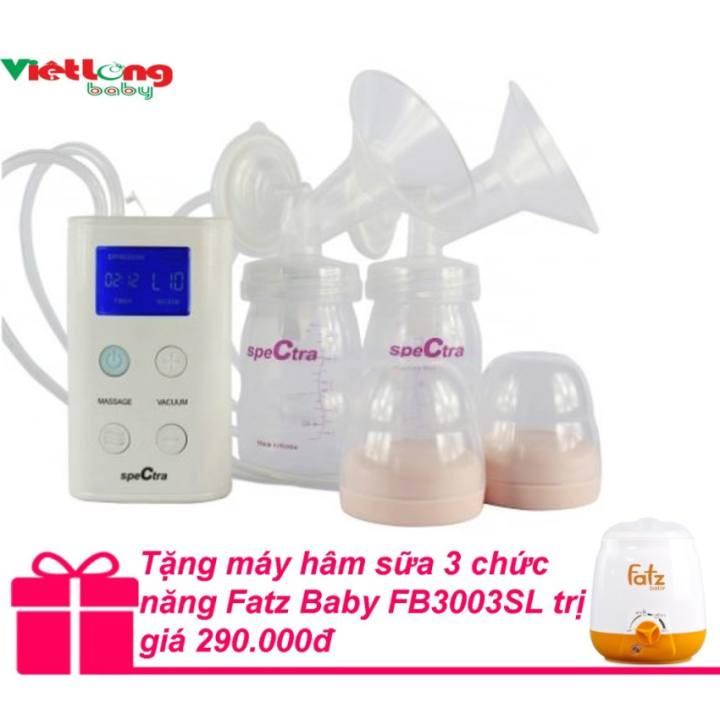Máy hút sữa Spectra 9plus hút đôi + Tặng máy hâm sữa 3 chức năng Fatz Baby FB3003SL trị giá...