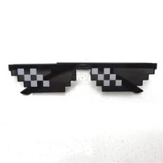 Hình ảnh Nam Nữ Kính Kính Thug Life 8-Bit MLG Pixelated Kính Mát Minecraft người chơi Phong Cách: 6 lưới-quốc tế
