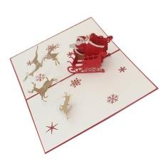 Hình ảnh Chúc Giáng Sinh Santa Điều Khoản Nai Sừng Tấm 3D Thẻ Giấy Thủ Công Thiệp chúc mừng Giáng Sinh Quà Tặng Lễ Hội Tặng Kèm Postcard Thủ Công-quốc tế