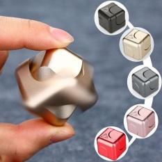 Hình ảnh Metal Aluminum Cube Dice EDC Fidget Hand Finger Spinner Fingertips Gyro Toys - intl