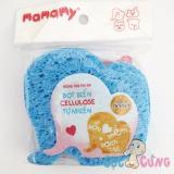 Giá Bán Miếng Tắm Bọt Biển Cellulose Tự Nhien Mamamy Hinh Voi Xanh Mamamy Mới