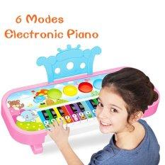 Hình ảnh Mini Cho Bé Kid's 6 Chế Độ Đàn Organ Điện Tử Đèn Led Nháy Theo Nhạc Động Vật Đàn Piano (Màu Sắc: Ngẫu Nhiên)-quốc tế