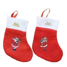 Hình ảnh Mini Christmas Stockings Christmas Decoration Supplies Christmas Decorations Festival Party Ornament - intl