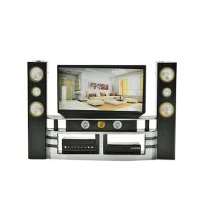 Hình ảnh Mini Hi-Fi 1:6 TV Home Theater Cabinet Set Combo For Barbie Doll - intl