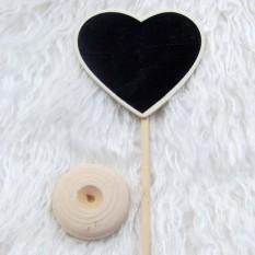 Hình ảnh Mini Rectangle Heart Shape Seats Board Craft Pendulum Pendant For Wedding - intl