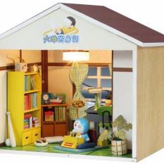 Hình ảnh Mô Hình Nhà Búp Bê DIY Phòng Ngủ Nobita Có Cỗ Máy Thời Gian