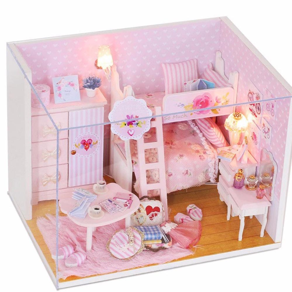 Mô Hình Nhà Gỗ DIY- Nhà Búp Bê PINK GIRL (Tặng Mica) DiyDollHouse Bất Ngờ Giảm Giá