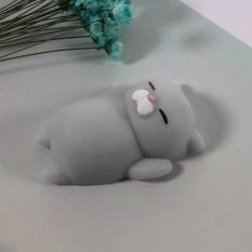 Hình ảnh Mochi squishy mèo XÁM mập ú - Đồ chơi cho bé