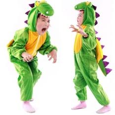 Hình ảnh Moonar Hoạt Hình Trẻ Em Trẻ Em Trang Phục Cosplay Quần Áo Động Vật Đạo Cụ Biểu Diễn Halloween Áo Liền Quần cho Bé Trai Bé Gái (Khủng Long, Kích Thước: m)-quốc tế