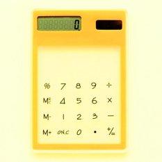 Hình ảnh Moonar LCD 8 Chữ Số Màn Hình Cảm Ứng Siêu mỏng Trong Suốt Năng Lượng Mặt Trời Máy Tính-quốc tế