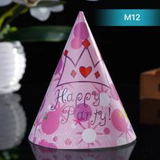 Hình ảnh Mũ sinh nhật cho bé hình vương miện hồng MS12