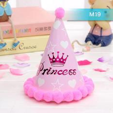 Hình ảnh Mũ sinh nhật công chúa hồng cho bé Ms19