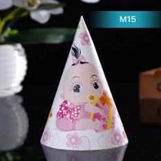 Hình ảnh Mũ sinh nhật em bé bú sữa màu hồng Ms15