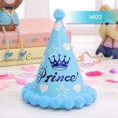 Hình ảnh Mũ sinh nhật hoàng tử xanh cho bé trai MS02