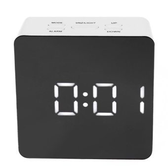 Multi-function Digital LED Mirror Clock Alarm with Temperature Snooze - intl