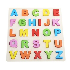 Hình ảnh Mumama Wooden Building Block Animal Letter Jigsaw Toy (Multicolor) - intl