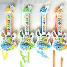 Hình ảnh Âm nhạc Điện Tử Đàn Guitar Đồ Chơi Giáo Dục Đầu Tập Đi Cho Bé có Phát Nhạc Vui Nhộn-quốc tế