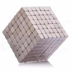 Hình ảnh Nam châm xếp hình thông minh vuông 216 viên / nam châm ảo thuật (Bạc)