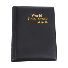 Hình ảnh New 120 Pockets 10 Pages World Coin Storage Folder Album Money Collecting Holder Book (Black) - intl