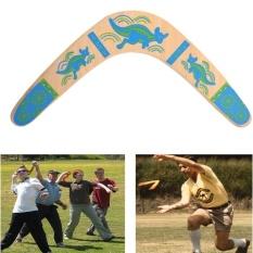 Hình ảnh New Outdoor Wooden Classic V Shape Returning Boomerang Frisbee Flying Saucer Toys - intl