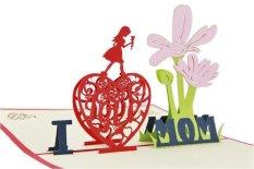 Hình ảnh Mới nhất 3D Bật Lên Thiệp chúc mừng CON YÊU MẸ Nhờ Thẻ Hoa Bưu Thiếp Ngày của Mẹ (Kích Thước/Phong Cách: 10*15 cm, Màu Sắc: Màu Đỏ)-quốc tế