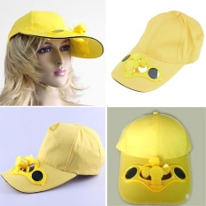 Hình ảnh Newworldmall New Gift Funny Toys Multi Function Sun Solar Fan Cap Travel Golf Climbing Baseball Sports Hat Toy - intl