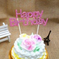 Hình ảnh Đẹp Bánh Topper Cupcake Bunting Biểu Ngữ Cờ Thực Phẩm Tắm Bữa Tiệc Sinh Nhật Vui Vẻ Hồng Đậm-quốc tế