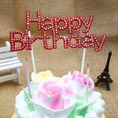 Hình ảnh Đẹp Bánh Topper Cupcake Bunting Biểu Ngữ Cờ Thực Phẩm Tắm Bữa Tiệc Sinh Nhật Vui Vẻ-Đỏ-quốc tế