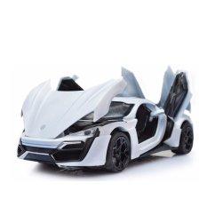 Hình ảnh ô tô mô hình Lacon thể thao bằng hợp kim tinh xảo có bánh đà (trắng)