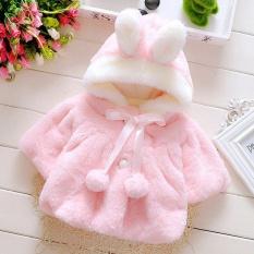 Giá Bán Oh Baby Infant Girls Fur Thickened Warm Coat With Hat 70Cm Intl Có Thương Hiệu