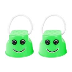 Hình ảnh OH Children Kids Outdoor Fun Walk Stilt Jump Smile Face Balance Training Toy Green - intl