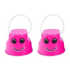 Hình ảnh OH Children Kids Outdoor Fun Walk Stilt Jump Smile Face Balance Training Toy Pink - intl