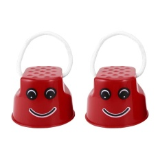 Hình ảnh OH Children Kids Outdoor Fun Walk Stilt Jump Smile Face Balance Training Toy Red - intl