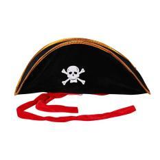 Hình ảnh OH Pirate Captain Hat Skull Crossbone Cap Costume Fancy Dress Party Halloween - intl