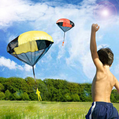 Hình ảnh Outdoor Sports Hand Throwing Mini Parachute Educational Toy Random Color Quantity 1 for Children Babies Kids - intl