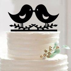 Hình ảnh Personalised Mr and Mrs Heart Wedding Cake Topper Decor Bride & Groom Romantic - intl