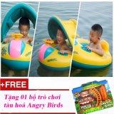 Giá Bán Phao Bơi Cho Be Co Mai Che Nắng Summer Sea Tặng 01 Bộ Xếp Hinh Tau Hoả Angry Bird Oem Mới