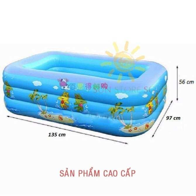 Hình ảnh Phao Tắm Cho Bé Sơ Sinh - Bể bơi phao trẻ em 3 tầng - Chất liệu cao cấp, độ bền cao + Tặng ngay 1 Bơm bể bơi cao cấp - Giảm 50% khi mua trên LAZADA
