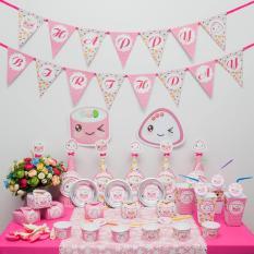 Hình ảnh Phụ kiện trang trí sinh nhật SUSHI HỒNG