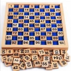 Hình ảnh Phương pháp Montessori ô số từ 1 đến 100 bằng gỗ rèn luyện chữ số và học đếm dành cho bé