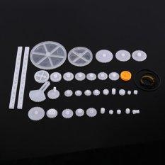 Hình ảnh Plastic Gears Pulley Belt Worm Rack Kits Crown Gear Set DIY Parts(34kinds) - intl