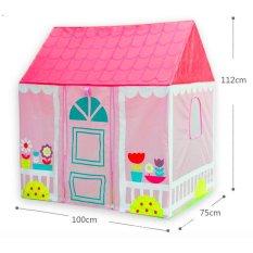 Hình ảnh Pink Portable Girl Outdoor Tent Princess Play Tent - intl