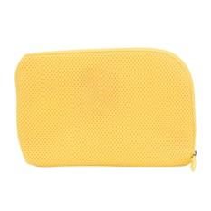 Hình ảnh Portable Travel Digital USB Cable Storage Bag Wrap Case Bags Yellow 22*15CM - intl