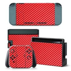 Hình ảnh Đỏ Miếng Dán Sợi Carbon Full Bọc Miếng Dán Decal Vệ Nintendo Switch-quốc tế