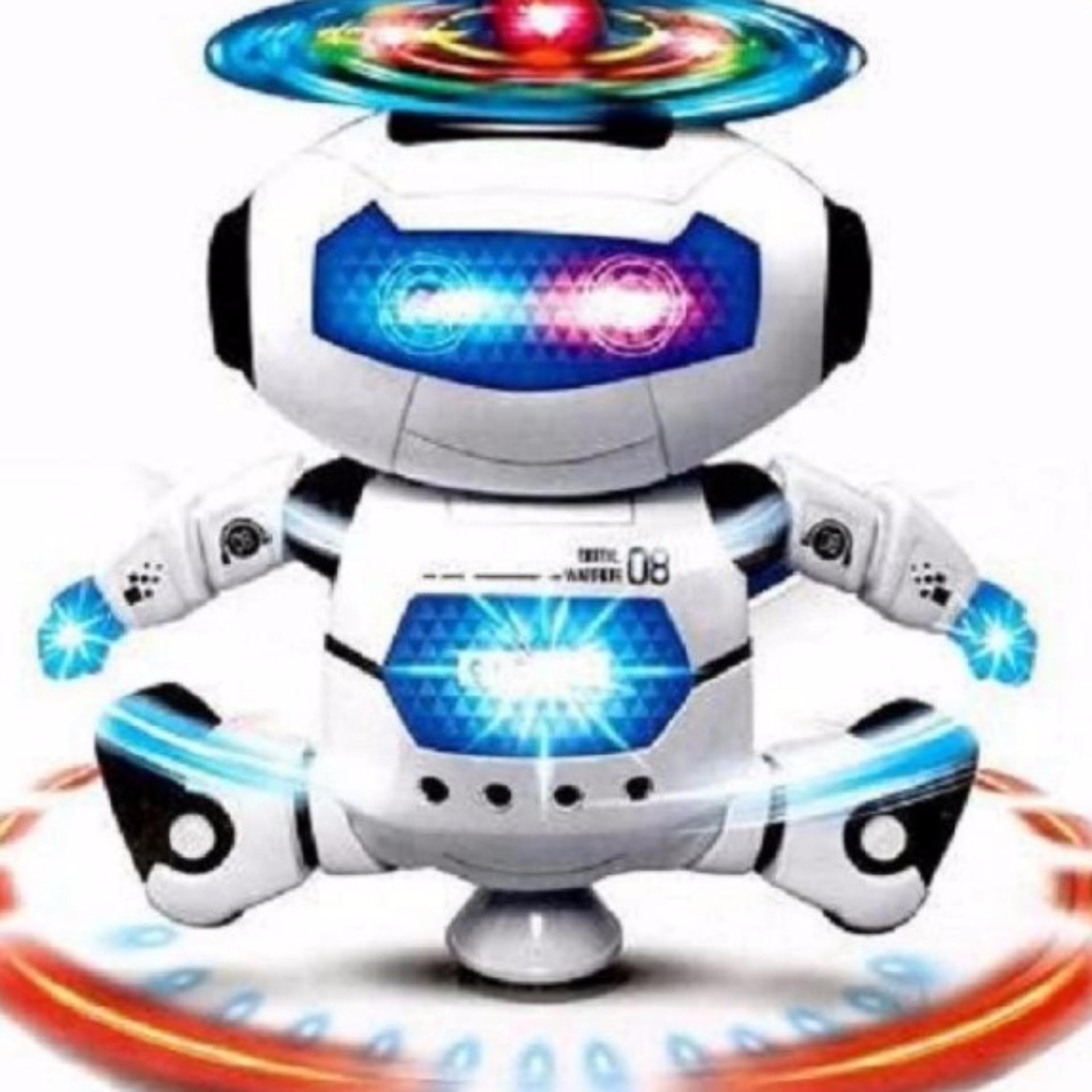 Robot không gian nhảy múa theo nhạc (Xanh)