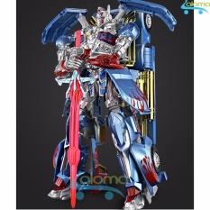 Hình ảnh Robot Transformer lắp ráp thành ôtô cỡ lớn cao 35cm mẫu Optimus Prime OP-14D (blue)