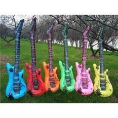 Hình ảnh Rock Roll Guitar Balloons Inflatable Air Party Supplies Kids Toys Birthday Balloon Classic Toy Musical Instruments Toy - intl