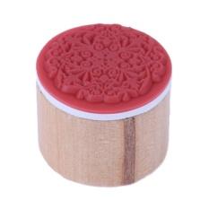 Hình ảnh Vòng Retro DIY Hoa Gỗ Vintage Phối Ren Tem (Đỏ)-6-quốc tế
