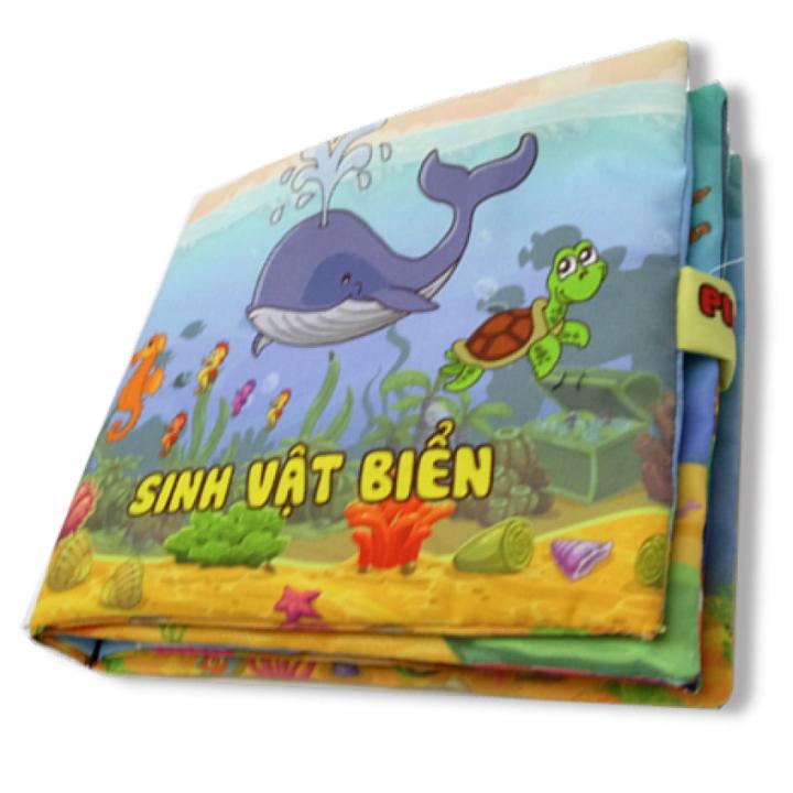 Sách vải cho bé chơi mà học Pipo - Sinh vật biển