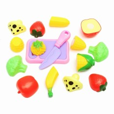 Hình ảnh Safety Pretend Role Play Kitchen Fruit Vegetable Food Cutting Toy Set Child Gift - intl